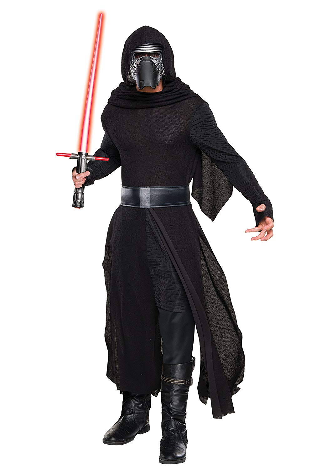 """Adam Driver has been killing it in each of his roles, especially as the struggling villain in the most recent """"Star Wars"""" trilogy, which is scheduled to end in December 2019 with """"Star Wars: The Rise of Skywalker."""" This costume is a """"Star Wars Episode VII: The Force Awakens"""" officially-licensed deluxe piece that includes a robe, hooded cape, belt, and mask (wear with your own pants and boots).Buy: Men's costume (pictured), $20.71 to $93.19RELATED: Rey Costume for Women and Teen Girls"""
