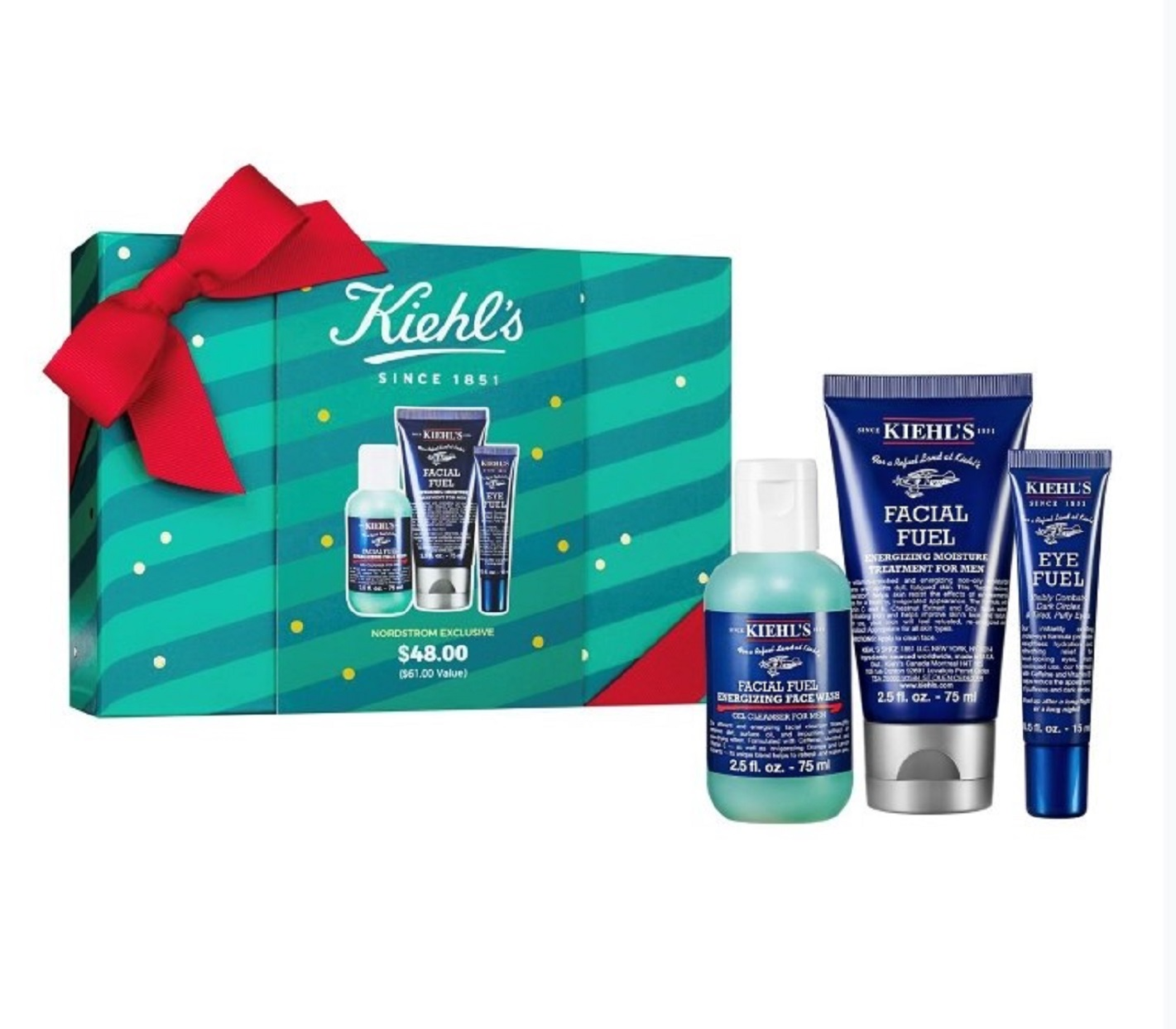 2019 holiday gift guide Kiehl's Facial Fuel Favorites Set for Men