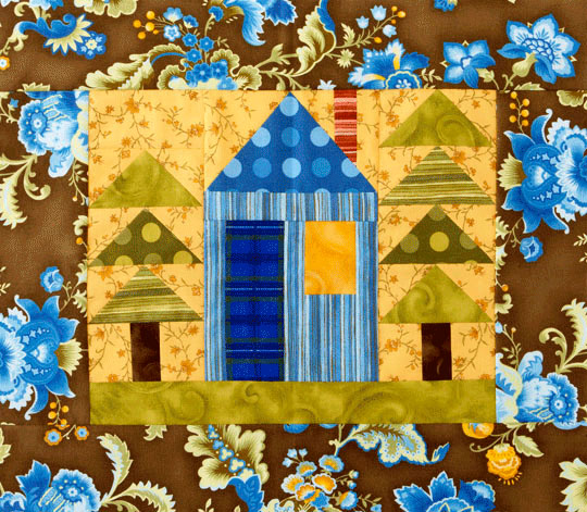 House and Trees Wall Hanging