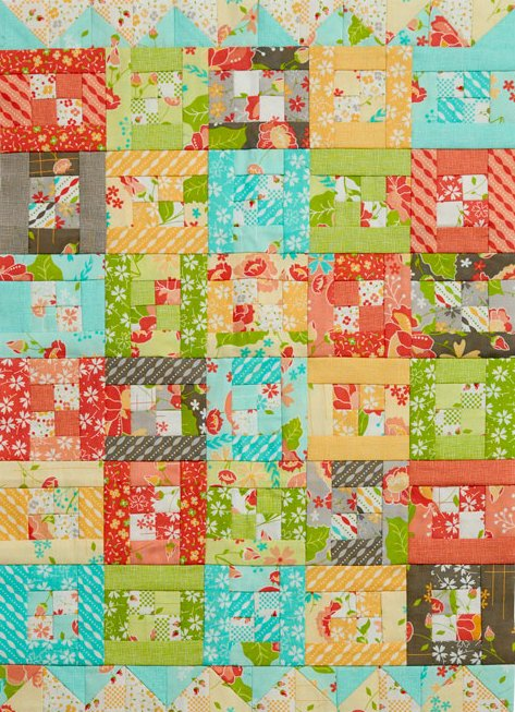 Bright Bits Mini Quilt
