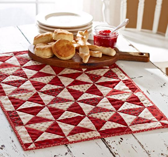 Red-and-White Table Mat