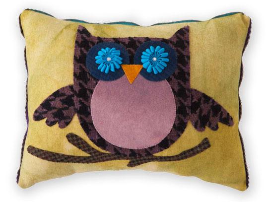 Wool Owl Pillow