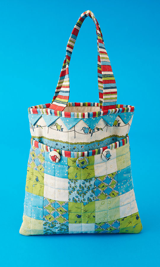 Patchwork and Prairie Points Bag