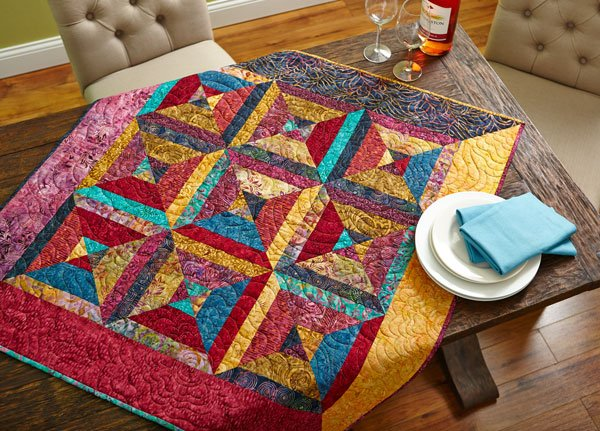 Batik Triangles Table Topper