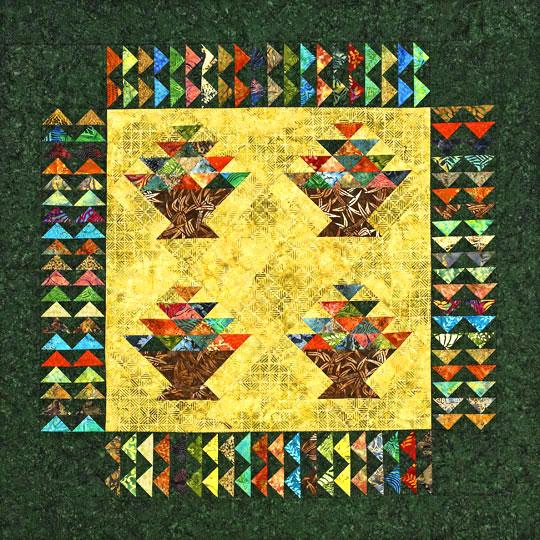Batik Baskets Wall Hanging