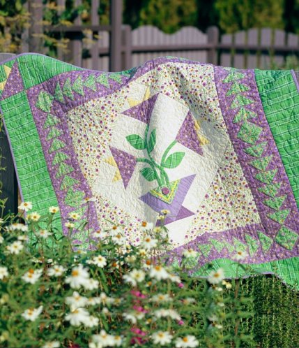Flower Hand-Appliqué Quilts