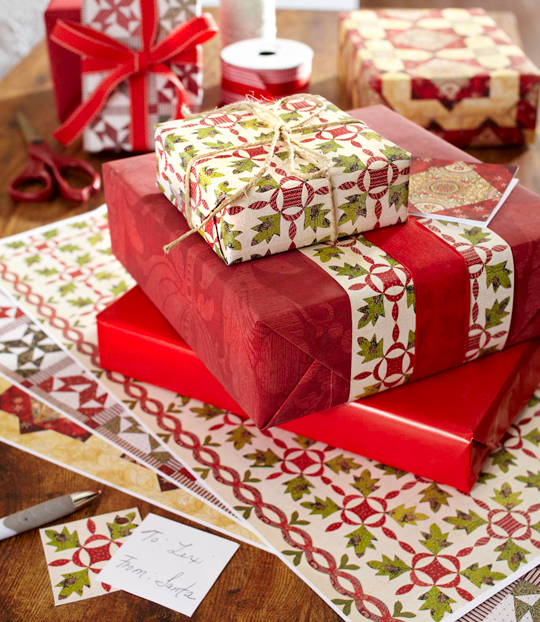 Quilted-Look Gift Wrap