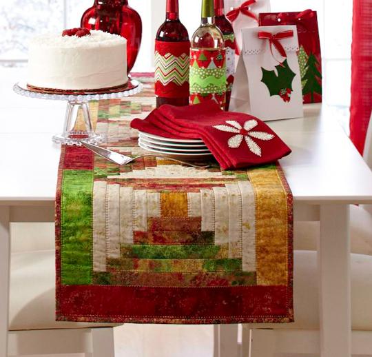Christmas Cabin Table Runner
