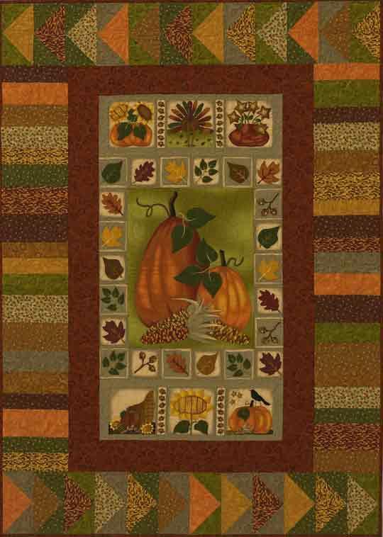 Pumpkin Panel Quilt