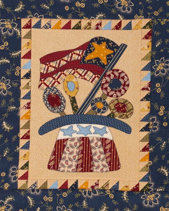 Patriotic Folk Art Quilt