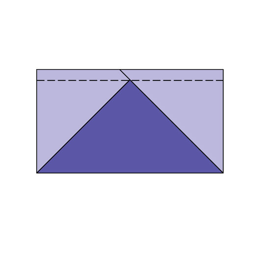 Method 1: Using a Rectangle of One Fabric and Two Squares of a Contrasting Fabric