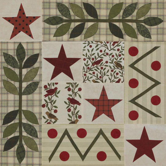 Stars and Leaves Appliqué