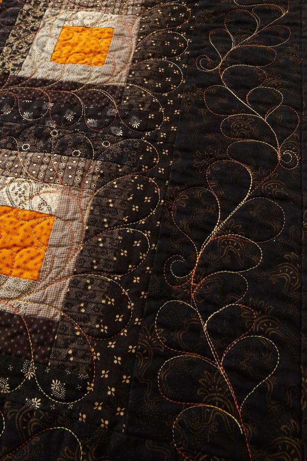 Sharp Cheddar Stars Machine-Quilting Details