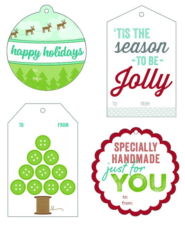 Jolly Holiday Gift Tags