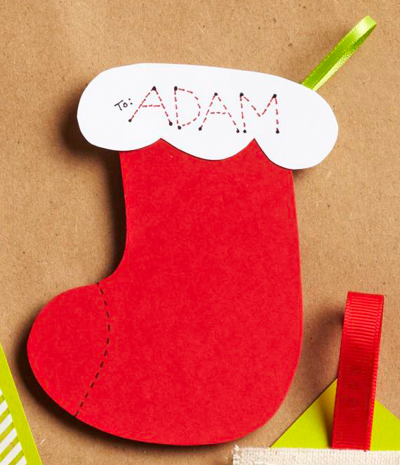 Personalized Stocking Gift Tag