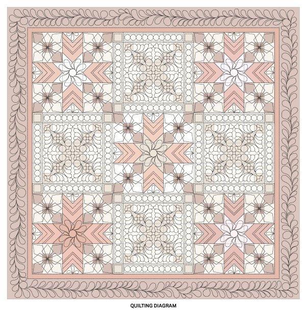 Stunning Star-Crossed Quilt Quilting Diagram