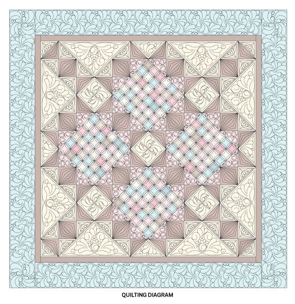 A Scrappy Romance Quilting Diagram