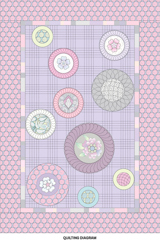 Double the Fun Quilting Diagram