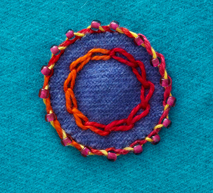Beaded Whipped Chain Stitch