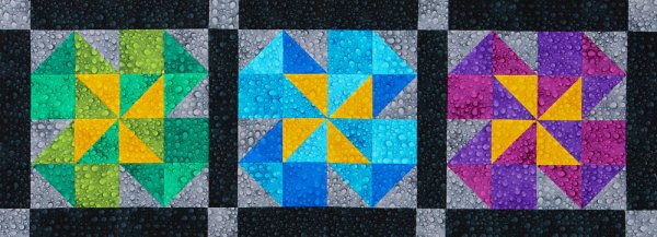 Colorful Pinwheel Table Runner