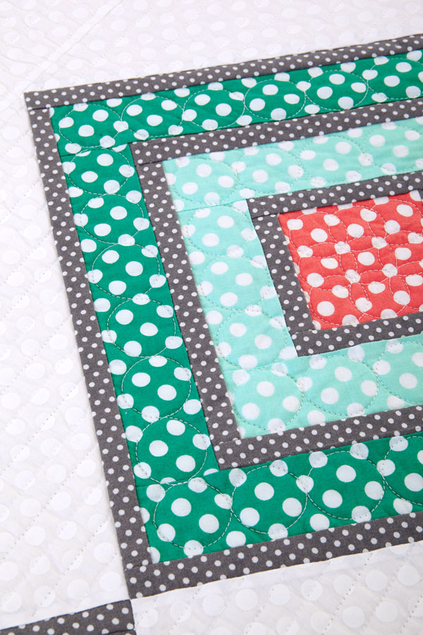 Between the Dotted Lines Machine-Quilting Detail