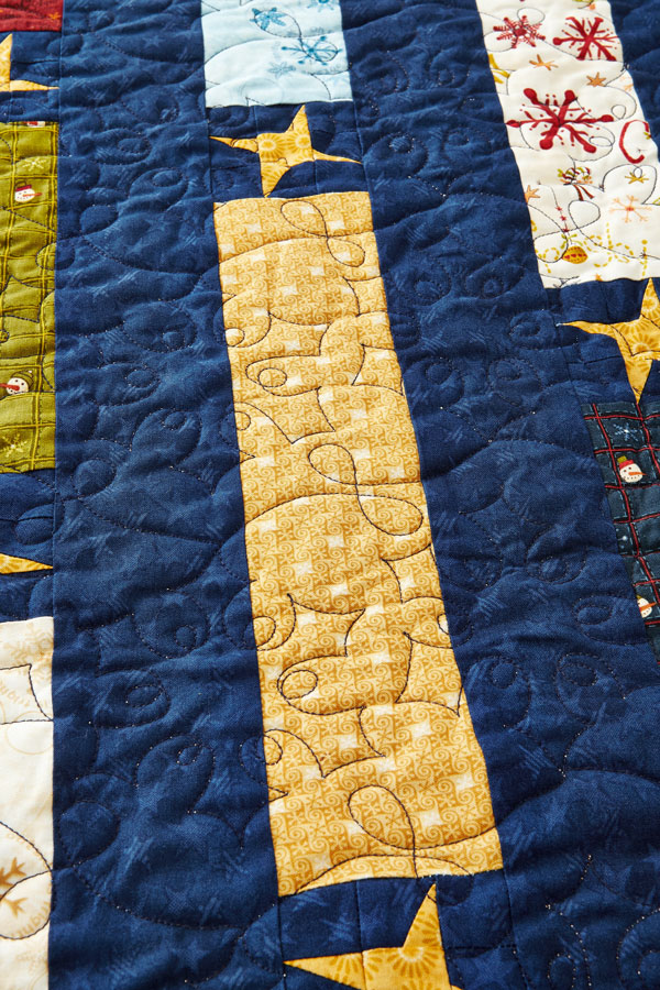 On a Winter's Night Machine-Quilting Detail