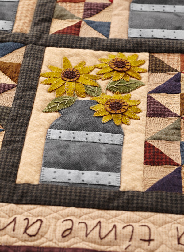Simply Arranged Machine-Quilting Detail