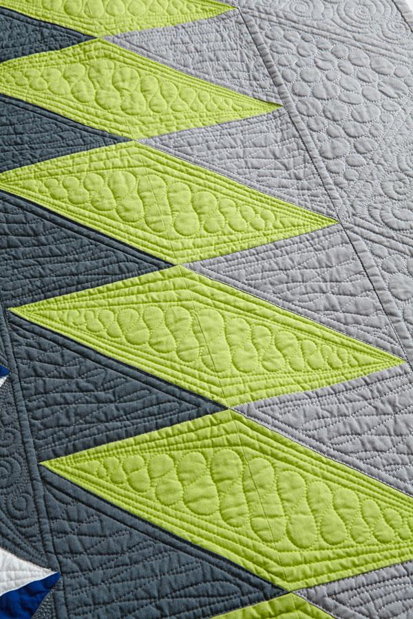 Lightning Strike Machine-Quilting Detail