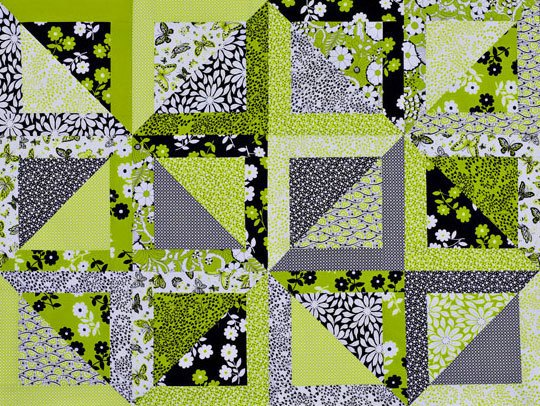 Lime Squares Wall Hanging