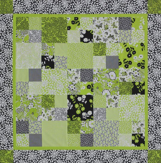 Fresh Four-Patch Table Topper