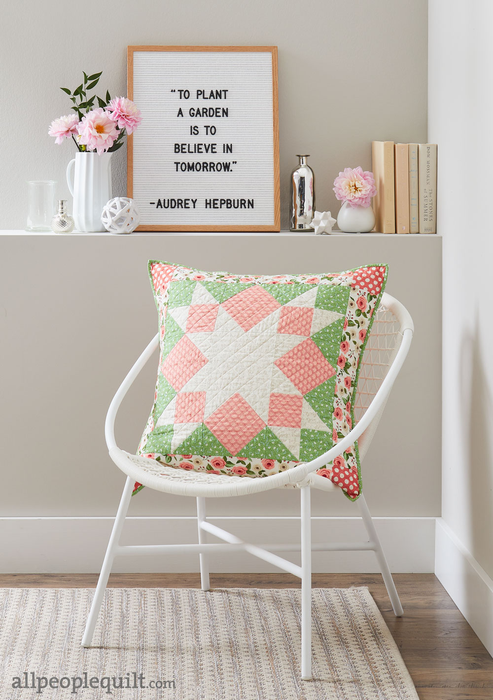 Stitch & Switch Pillow: Spring