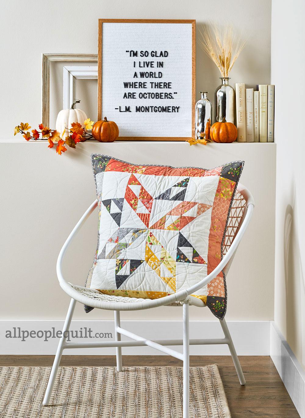 Stitch & Switch Pillow: Fall