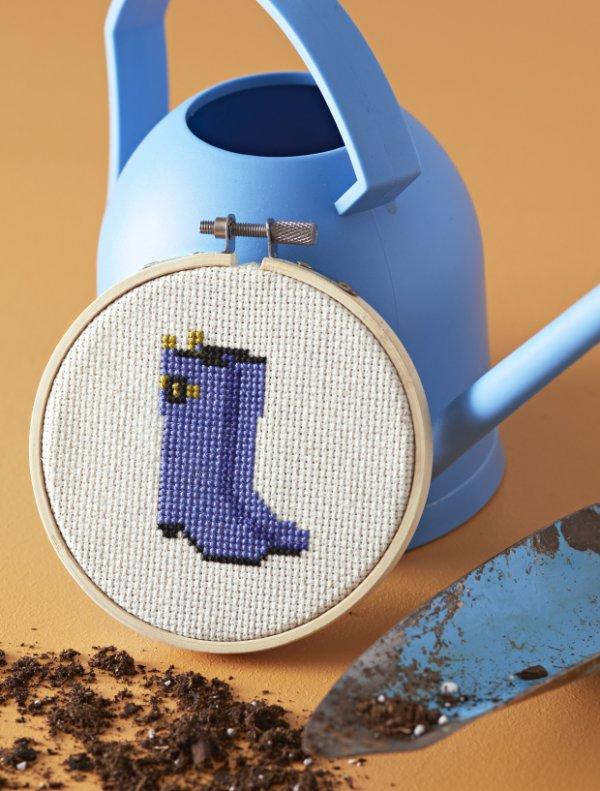 Rain Boots Cross-Stitch Pattern