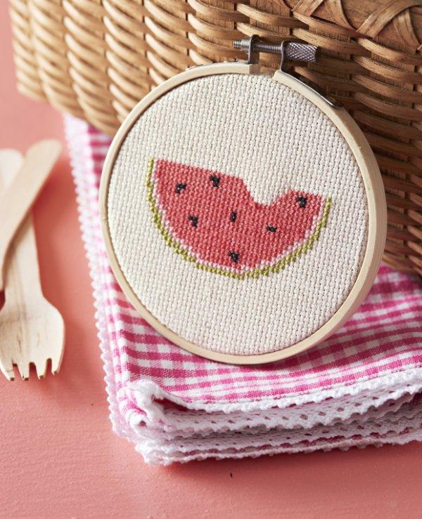 Watermelon Cross-Stitch Pattern