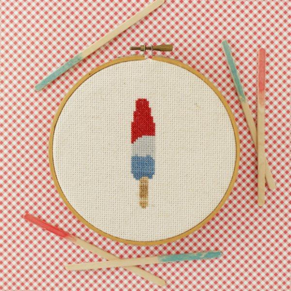 Popsicle Cross-Stitch Pattern