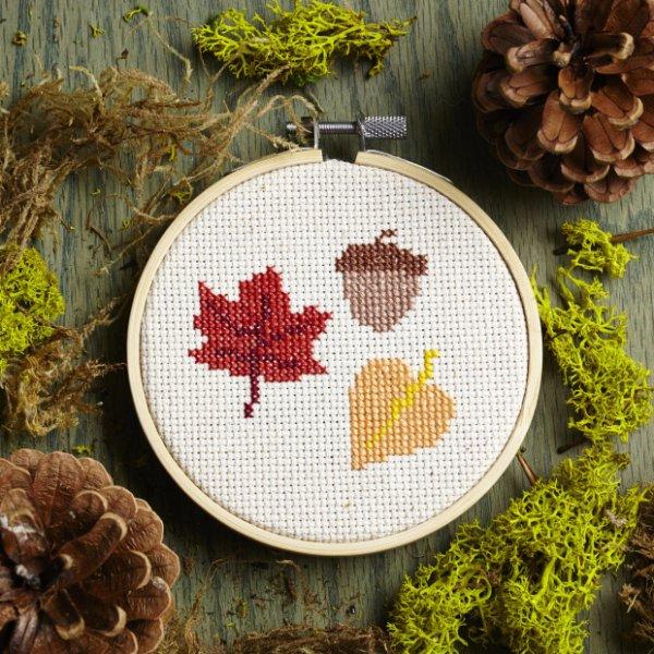 Leaves Cross-Stitch Pattern