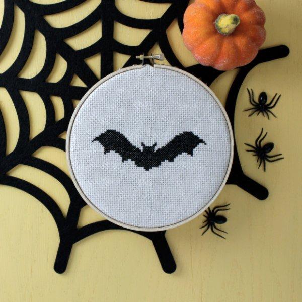 Bat Cross-Stitch Pattern