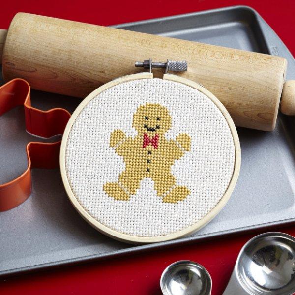 Gingerbread Man Cross-Stitch Pattern