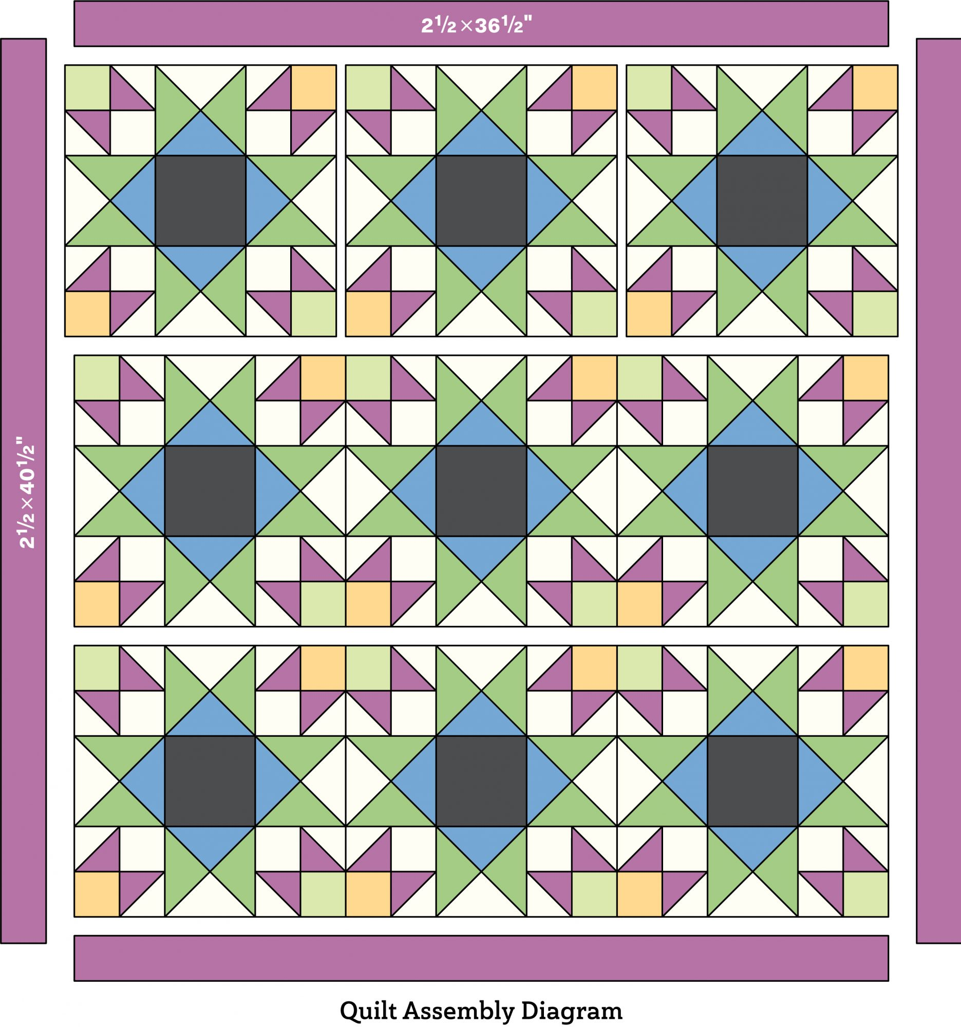 quilt assembly diagram