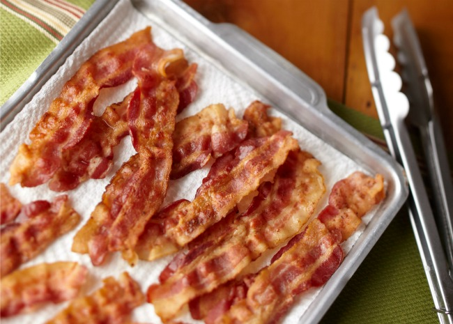 Bacon on Baking Sheet