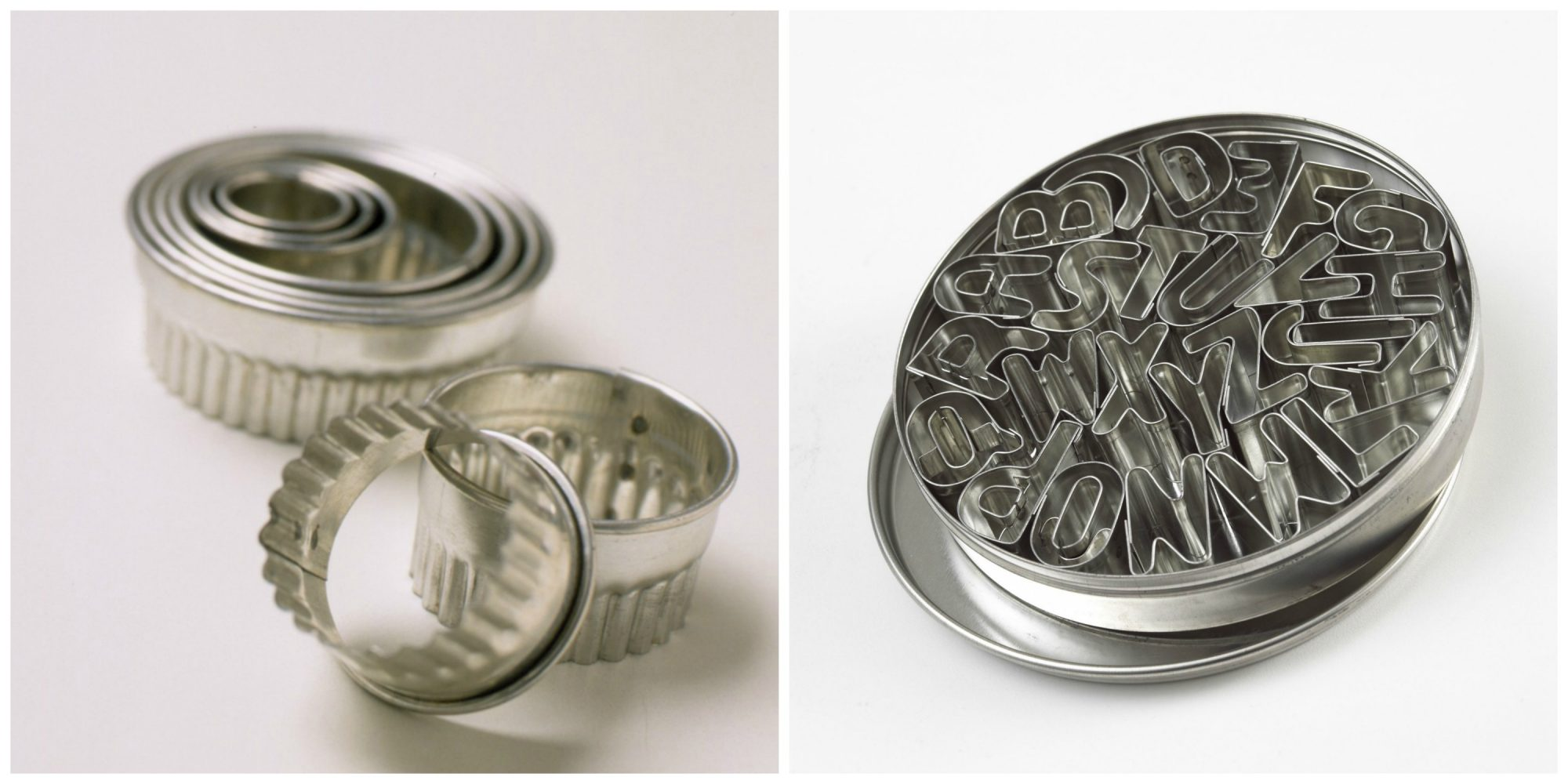 Nesting and Packaged Cookie Cutters