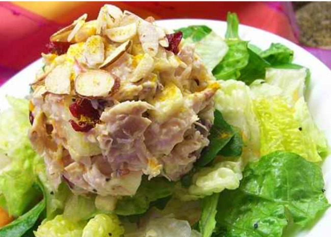 Fruited Curry Chicken Salad