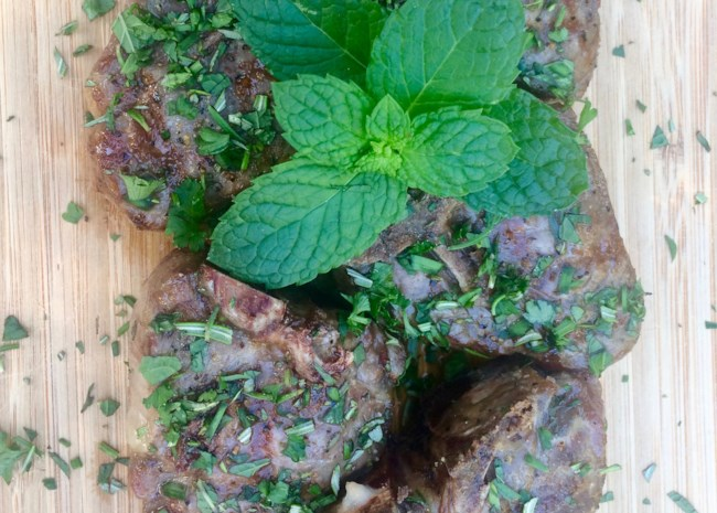 Grilled Lamb Chops with Fresh Herbs
