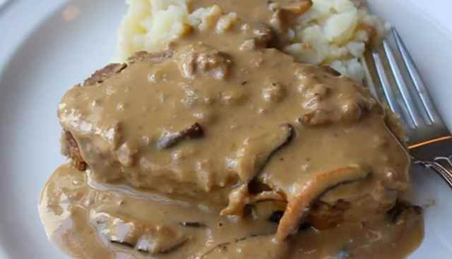 Luxury Meatloaf with Mushroom Gravy