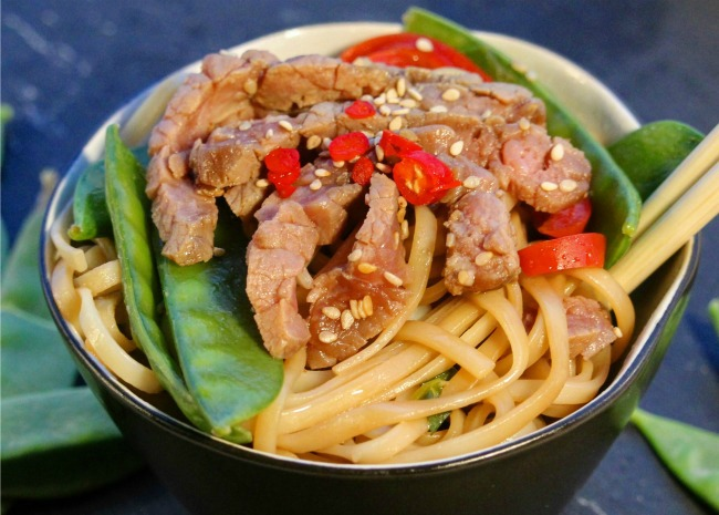 Asian Steak and Noodle Bowl