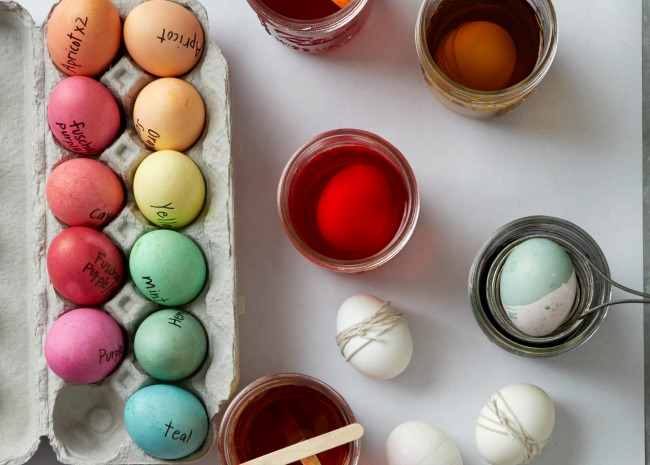 Supplies for Easter Egg Making