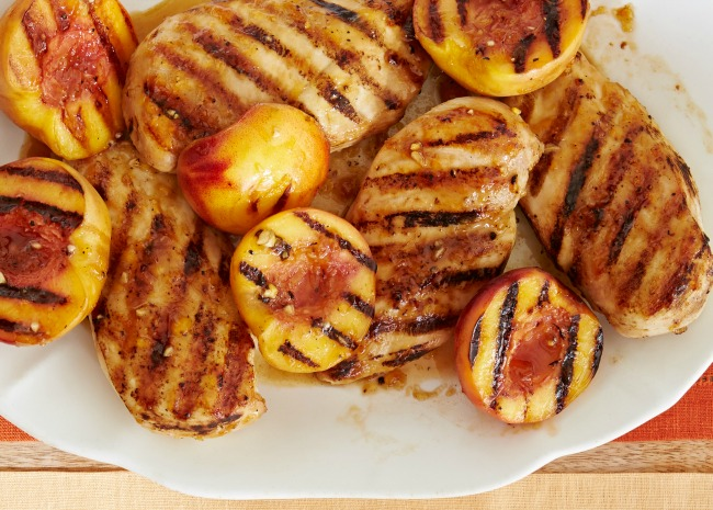 Grilled Chicken with Peach