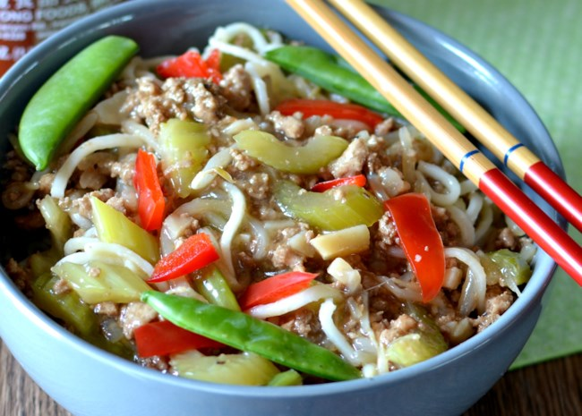 Easy Ground Turkey Lo Mein