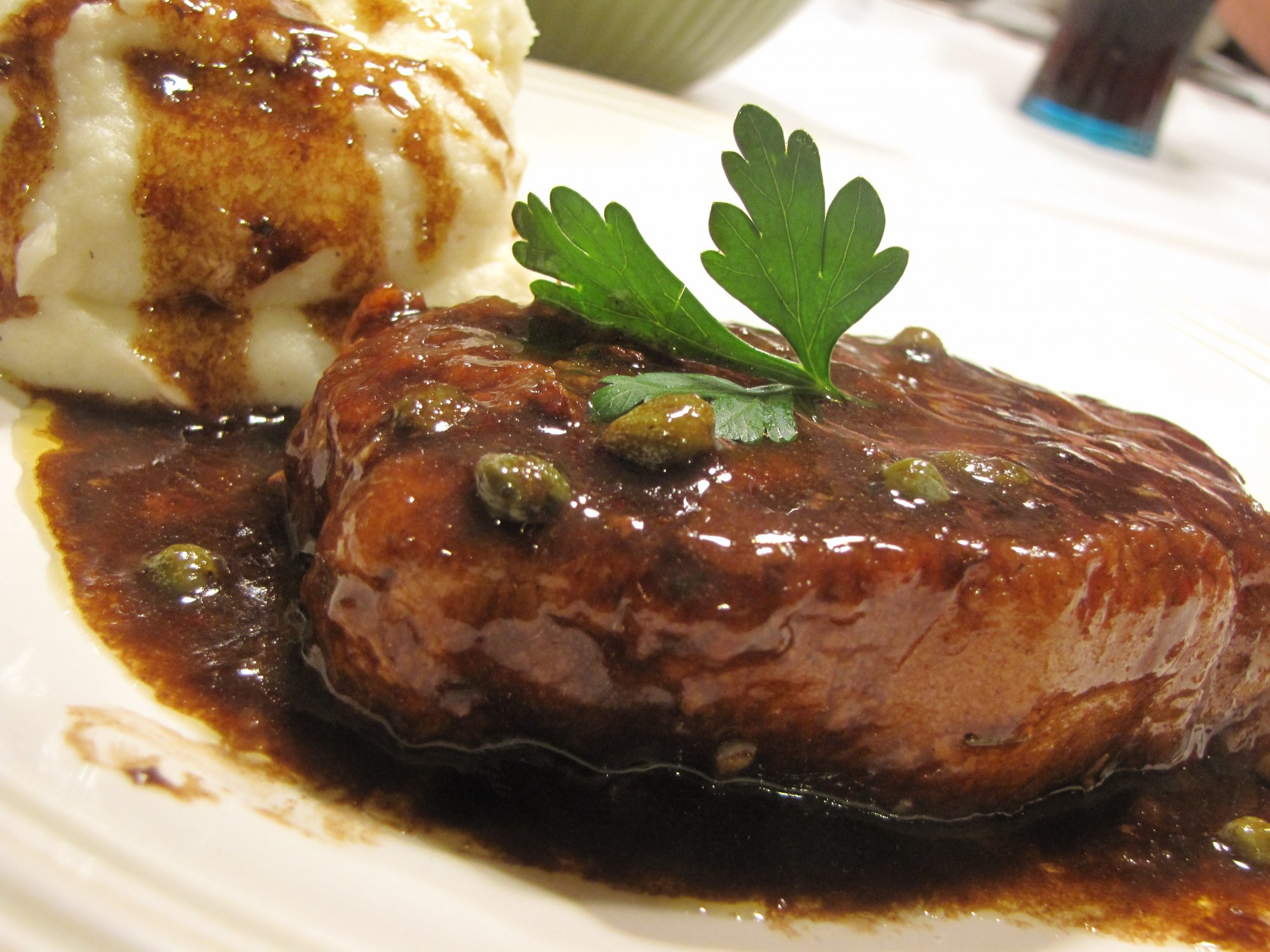 Pork Medallions with Balsamic Vinegar and Capers