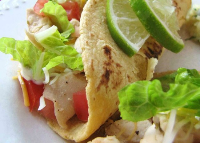 Lime Chicken Soft Tacos. Photo by Dianne